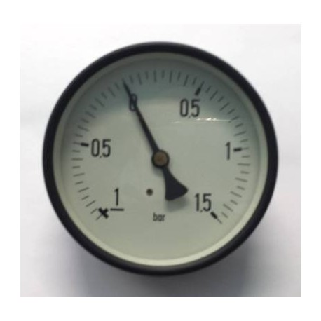 "Dry vacuum gauge -1+1,5 Bar diameter dn 100mm back 1/2""Bsp"