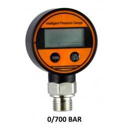 "Digital Pressure Gauges DN 63mm 0-700 BAR kl 0,5% Aisi Bottom Connection 1/2""BSPP"