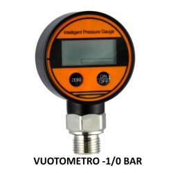 "Digital Vacuum Gauges DN 63mm -1/0 BAR kl 0,5% Aisi Bottom Connection 1/2""BSPP"