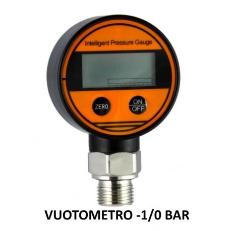 """Vuotometro Digitale DN 63mm -1/0 BAR precisione kl 0,5% attacco inox Radiale 1/2""""Gas"""