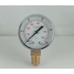 Dry pressure gauge 100 Bar diameter dn 50mm connection