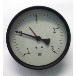 "Dry vacuum gauge -1+3 Bar diameter dn 100mm back 1/4""Bsp"