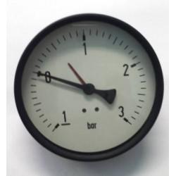 "Manovuotometro -1+3 Bar diametro dn 100mm posteriore 1/2""Gas"