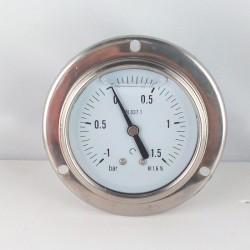 -1+1,5 Bar manovuotometro glicerina flangia diametro dn 63mm