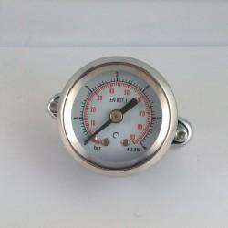 Stainless steel pressure gauge 6 Bar diameter dn 40mm u-clamp