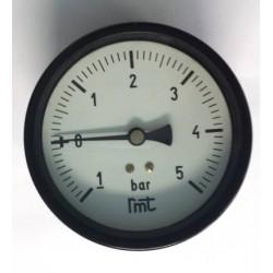 "Manovuotometro -1+5 Bar diametro dn 100mm posteriore 1/2""Gas"