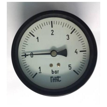 "Dry vacuum gauge -1+5 Bar diameter dn 100mm back 1/2""Bsp"