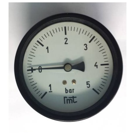 "Dry vacuum gauge -1+5 Bar diameter dn 100mm back 1/2""Bsp"