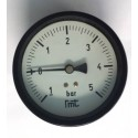 "Dry vacuum gauge -1+5 Bar diameter dn 100mm back 1/4""Bsp"