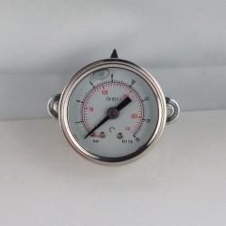 Stainless steel pressure gauge 16 Bar diameter dn 40mm u-clamp
