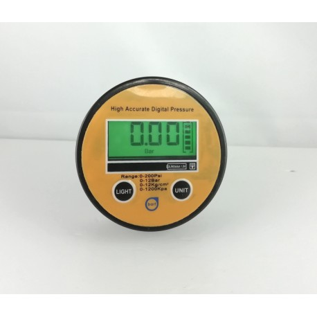 "Digital Pressure Gauges DN 63mm 0-1000 BAR kl 0,5 Aisi Bottom Connection 1/2""BSPP"