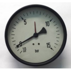 "Manovuotometro -1+15 Bar diametro dn 100mm posteriore 1/2""Gas"