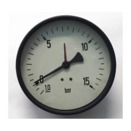 "Dry vacuum gauge -1+15 Bar diameter dn 100mm back 1/2""Bsp"