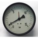"Dry vacuum gauge -1+15 Bar diameter dn 100mm back 1/4""Bsp"