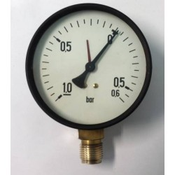 Dry vacuum gauge -1+0,6 Bar diameter dn 100mm bottom