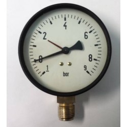 Dry vacuum gauge -1+9 Bar diameter dn 100mm bottom