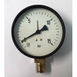 Dry vacuum gauge -1+15 Bar diameter dn 100mm bottom