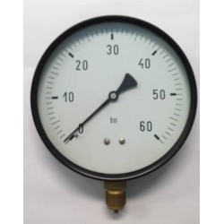 "Dry pressure gauge 60 Bar diameter dn 150mm 1/2""Bsp bottom"