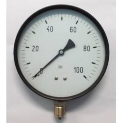 "Manometro 100 Bar diametro dn 150mm 1/2""Gas radiale"
