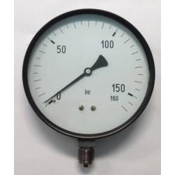 "Manometro 160 Bar diametro dn 150mm 1/2""Gas radiale"