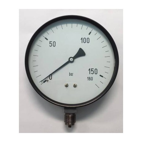 "Dry pressure gauge 160 Bar diameter dn 150mm 1/2""Bsp bottom"