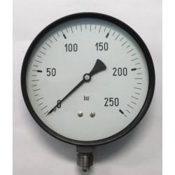 "Dry pressure gauge 250 Bar diameter dn 150mm 1/2""Bsp bottom"