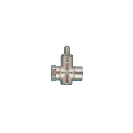 Brass needle valve for gauge with button